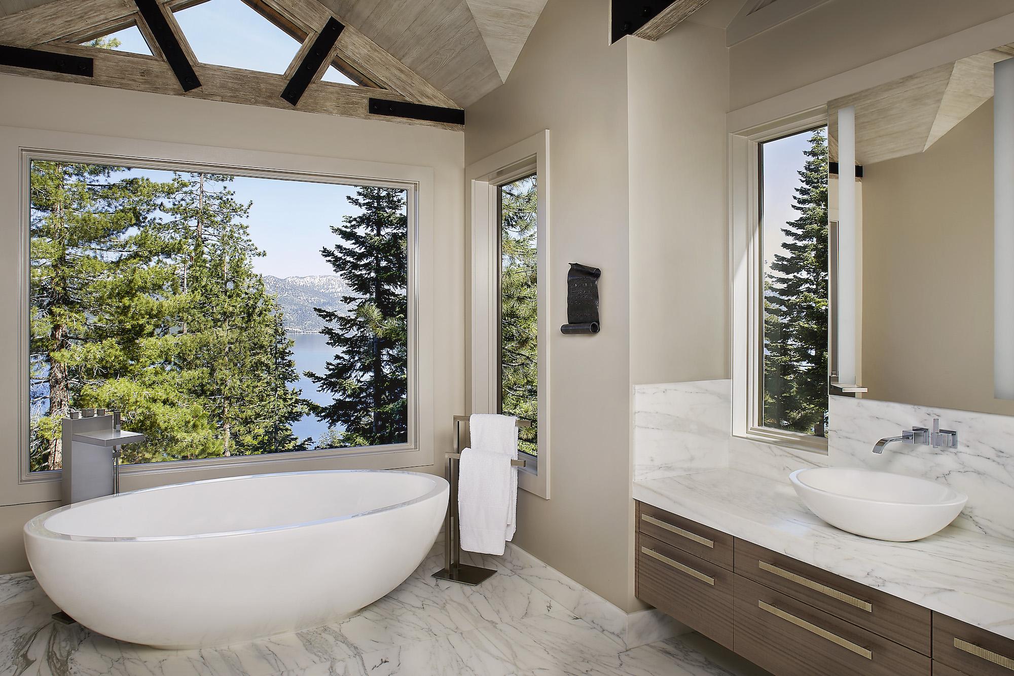 Lake Tahoe interior master bathroom Design